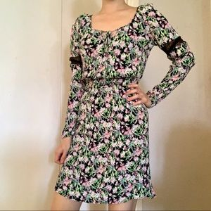 Princess Vera wang lace floral peasant dress sz s